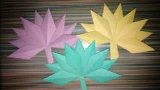Осенние оригами. Поделки из цветной бумаги