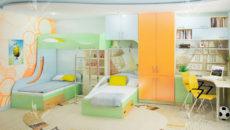 Детская комната для троих и более детей