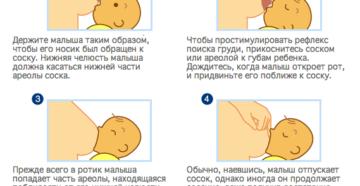 Опыт грудного вскармливания, правильный захват груди