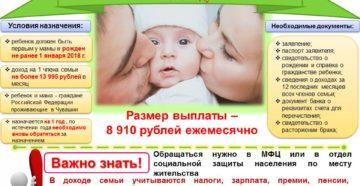 Выплаты семье в связи с рождением ребенка (Москва)