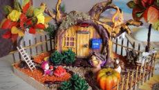 Осенние поделки из природных материалов для детского сада и школы