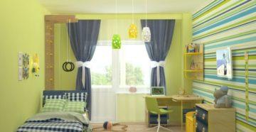Зеленая детская комната