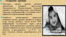 Третий месяц: развитие зрения, речи, сознания