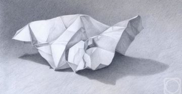 Мятая бумага, карандаши, слюни...