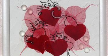 Панно в форме сердца ко Дню влюблённых