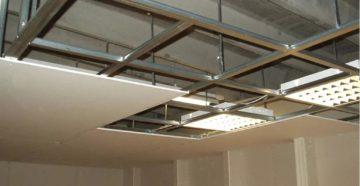 Подвесной потолок из гипсокартонных плит