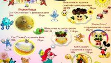 Первые блюда в детском меню
