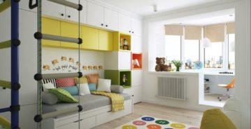 Детская для двоих детей: предложения дизайнеров